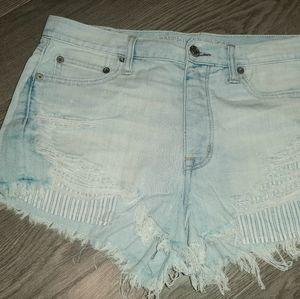 American Eagle Size 8 High Rise Jean Short